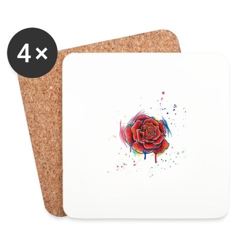 Rose Watercolors Nadia Luongo - Sottobicchieri (set da 4 pezzi)
