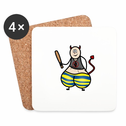 Devil No Touchies Charlie - Coasters (set of 4)