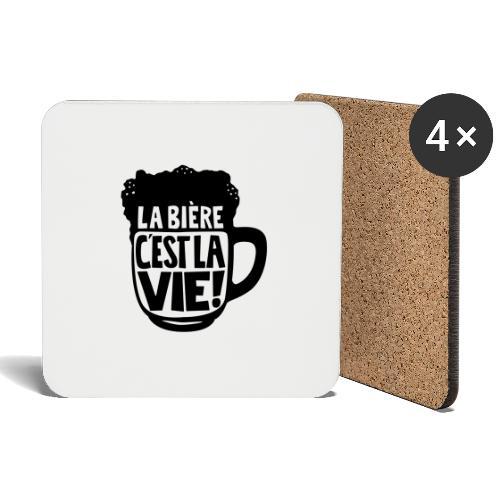 bière, la bière c'est la vie - Dessous de verre (lot de 4)