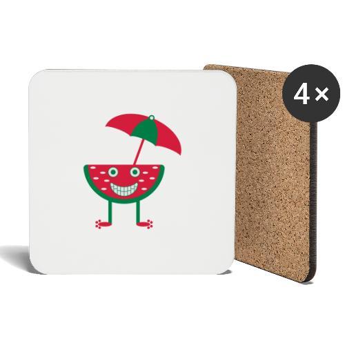 Melone mit Sonnenschirm - Untersetzer (4er-Set)