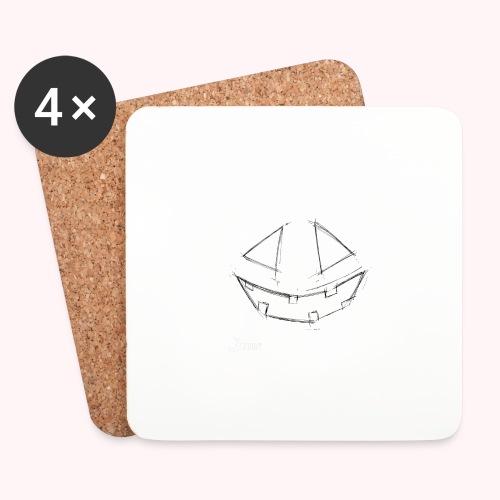 PUMPKIN FACE - 🍂FALL COLLECTION by DEBBY🍁 - Sottobicchieri (set da 4 pezzi)