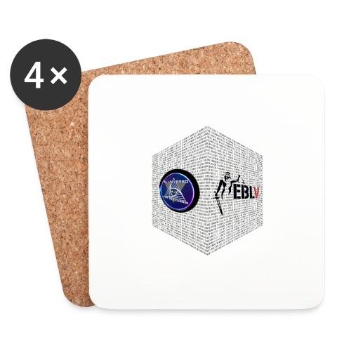 disen o dos canales cubo binario logos delante - Coasters (set of 4)