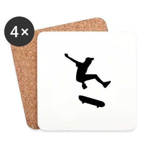 rollbrett skater skateboarding graffity skatepunk - Untersetzer (4er-Set)