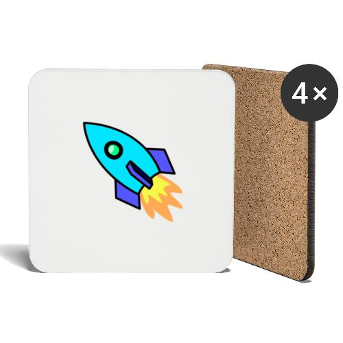 Blue rocket - Coasters (set of 4)