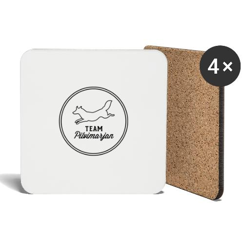 pilvimarjanlogovalk - Lasinalustat (4 kpl:n setti)
