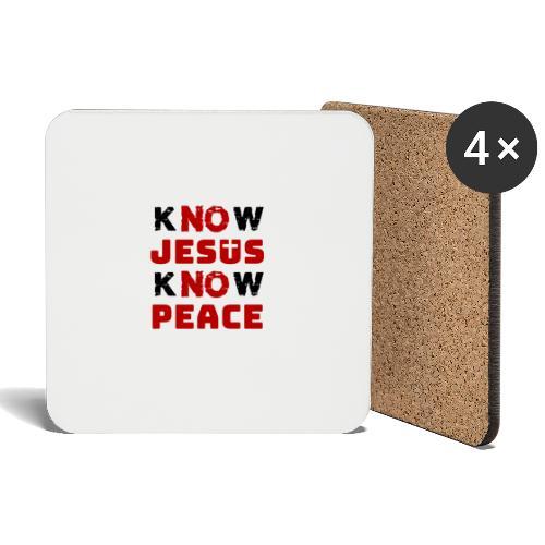Know Jesus Know Peace (Classic) - Untersetzer (4er-Set)