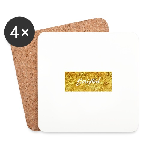 Scripted. Box Logo - Coasters (set of 4)