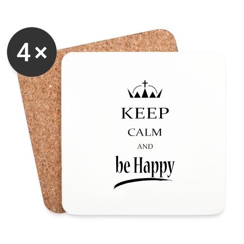 keep_calm and_be_happy-01 - Sottobicchieri (set da 4 pezzi)