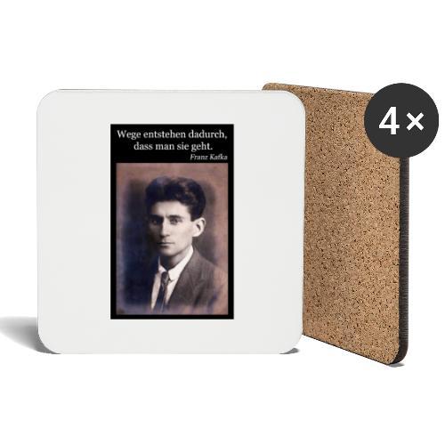 Kafka - Wege entstehen dadurch, dass man sie geht. - Untersetzer (4er-Set)