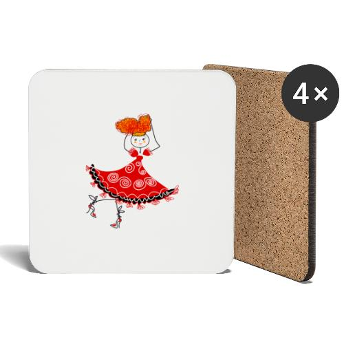 Ballerina - Sottobicchieri (set da 4 pezzi)