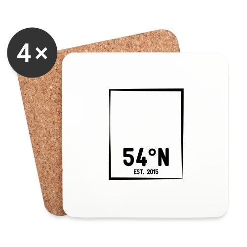 54°Nord square Cap - Glasbrikker (sæt med 4 stk.)
