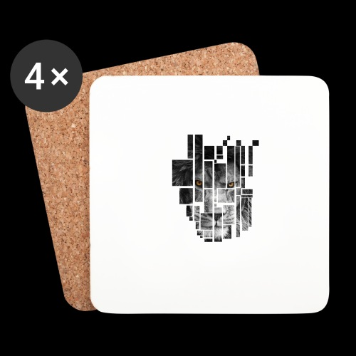 Pixel Lion Tattoo Inspire - Coasters (set of 4)