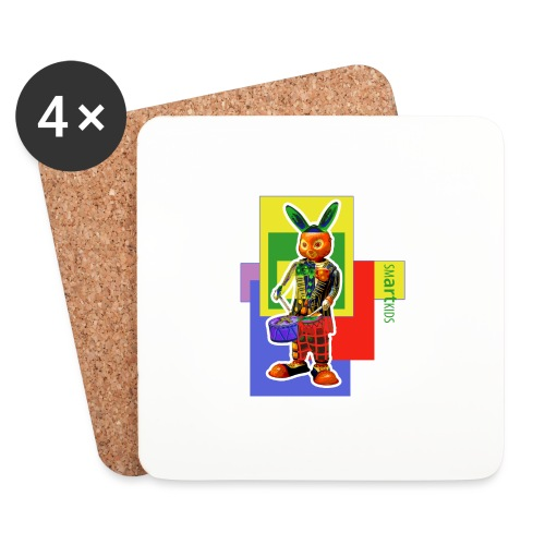 smARTkids - Slammin' Rabbit - Coasters (set of 4)