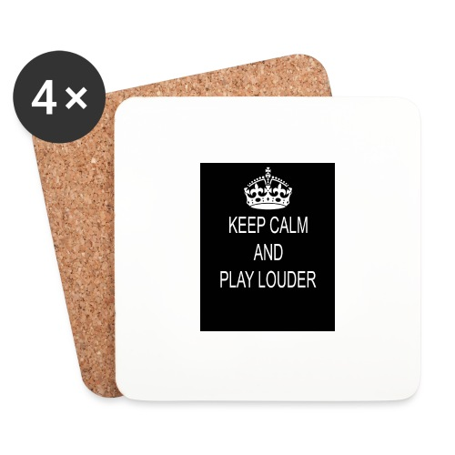 keep calm play loud - Dessous de verre (lot de 4)