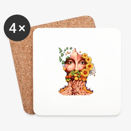 Fruit & Flowers - Coasters (set of 4)