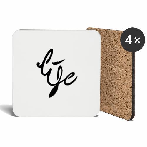 Life Logo simple black - Dessous de verre (lot de 4)