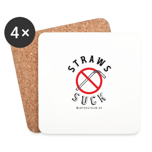 Straws Suck Classic - Coasters (set of 4)