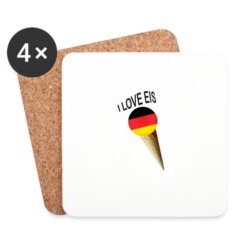 Fußball WM Fan Geschenk - Untersetzer (4er-Set)