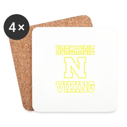 Normandie Viking Def jaune - Dessous de verre (lot de 4)