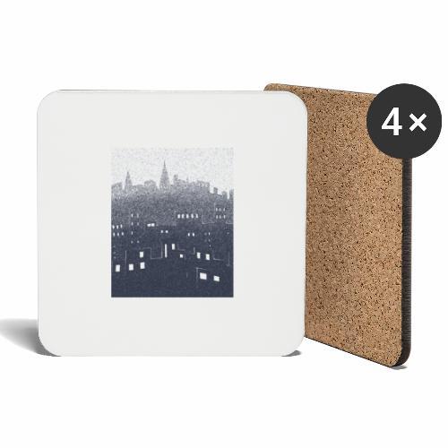 citysnow rectangle - Dessous de verre (lot de 4)