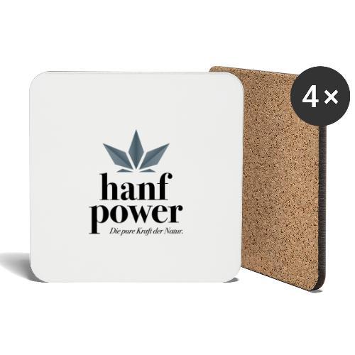 Hanf Power Logo - Untersetzer (4er-Set)