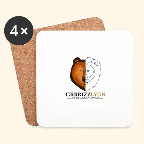 Grrrizzlyon - Dessous de verre (lot de 4)