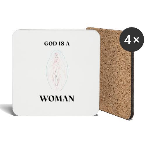 GOD IS A WOMAN - Untersetzer (4er-Set)
