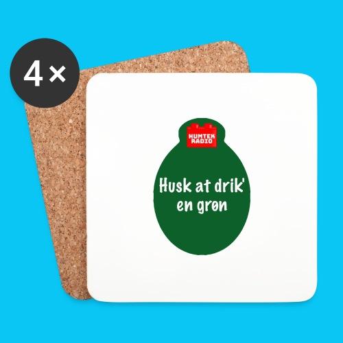 Grøn - Glasbrikker (sæt med 4 stk.)