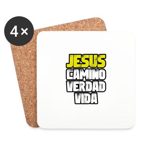 Jesus Camino Verdad Vida - Juan 14:6 - Posavasos (juego de 4)