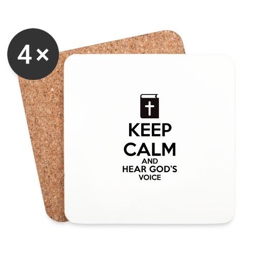 Keep Calm and Hear God Voice Meme - Posavasos (juego de 4)
