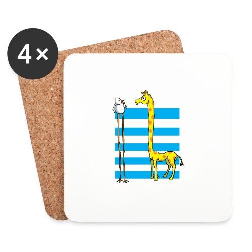 La girafe et l'échassier - Dessous de verre (lot de 4)