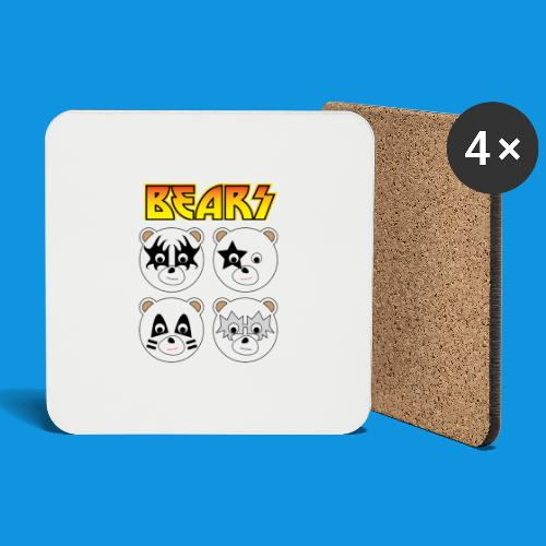 Kiss Bears square.png - Coasters (set of 4)