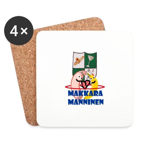 Makkara Manninen -vauvan body - Lasinalustat (4 kpl:n setti)