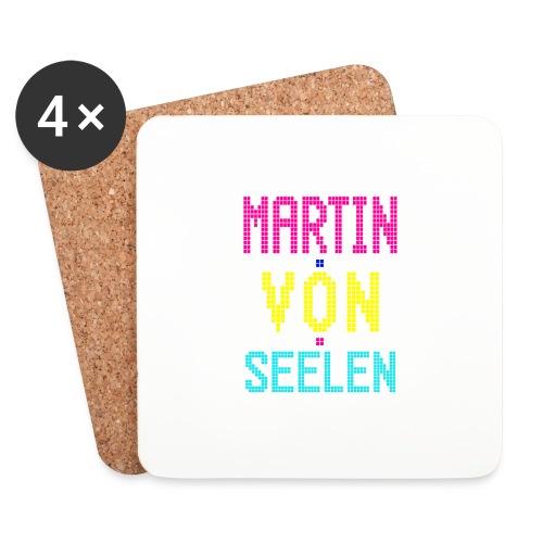 Martin von Seelen fan t-shirt - Glasbrikker (sæt med 4 stk.)