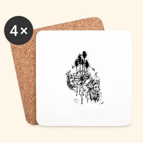 renard nature - Dessous de verre (lot de 4)