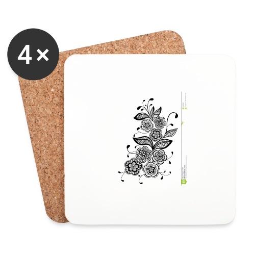 diseño de flores - Posavasos (juego de 4)