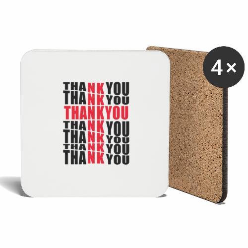 Motyw z napisem Thank You - Podstawki (4 sztuki w zestawie)