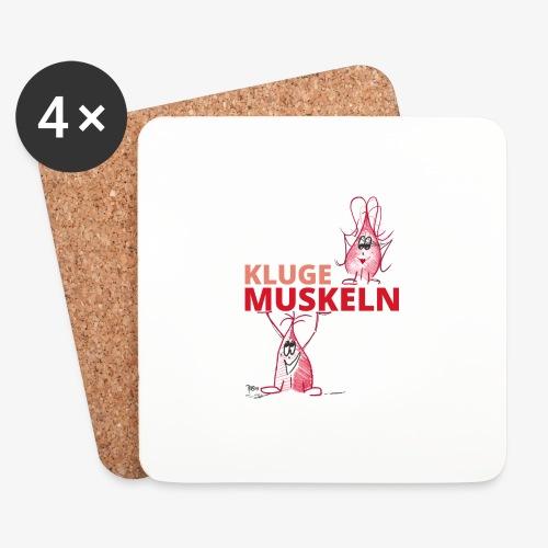 Kluge Muskeln - Untersetzer (4er-Set)