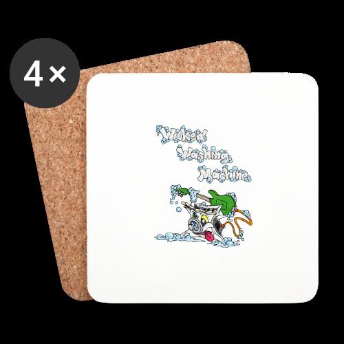 Wicked Washing Machine Cartoon and Logo - Onderzetters (4 stuks)