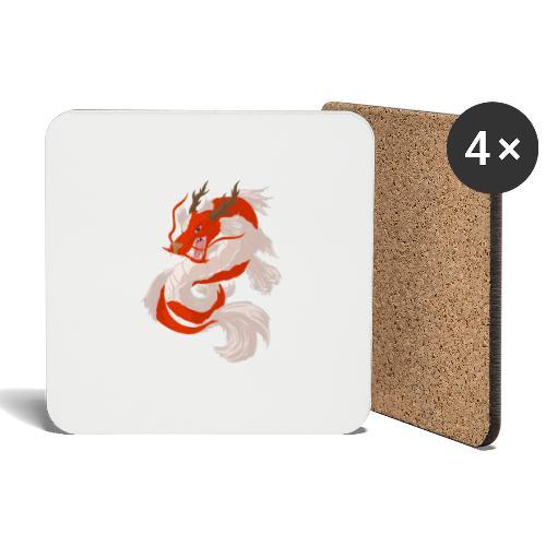 Dragon koi - Sottobicchieri (set da 4 pezzi)