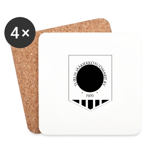 Tujen vaakunalogo - Lasinalustat (4 kpl:n setti)