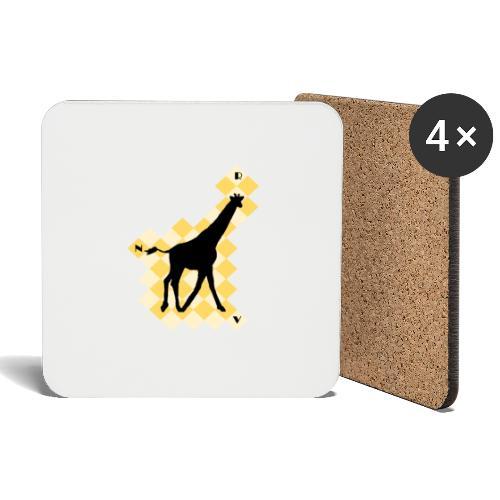 GiraffeSquare - Lasinalustat (4 kpl:n setti)