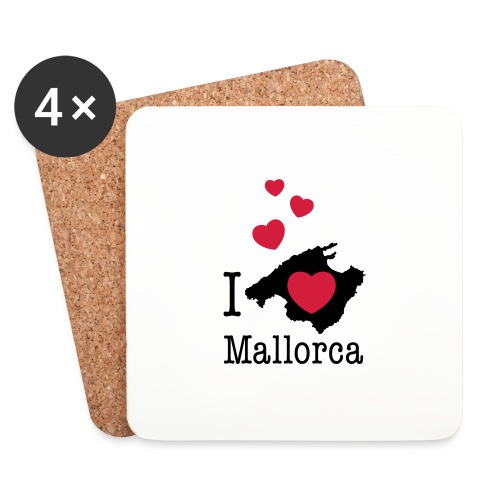 love Mallorca Balearen Spanien Ferieninsel Urlaub - Coasters (set of 4)