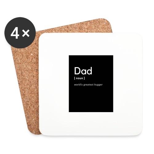 Papa ist der Beste - Untersetzer (4er-Set)