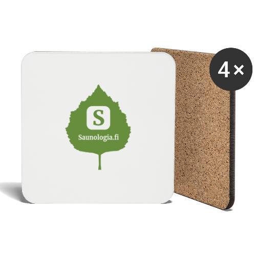 Saunologia logo 2020 - Lasinalustat (4 kpl:n setti)