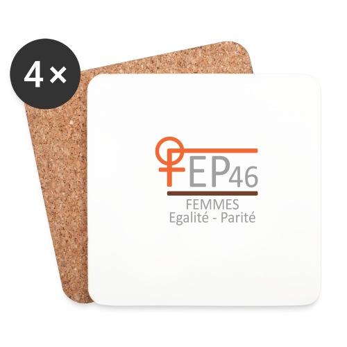 LOGO FEP 46 - Dessous de verre (lot de 4)