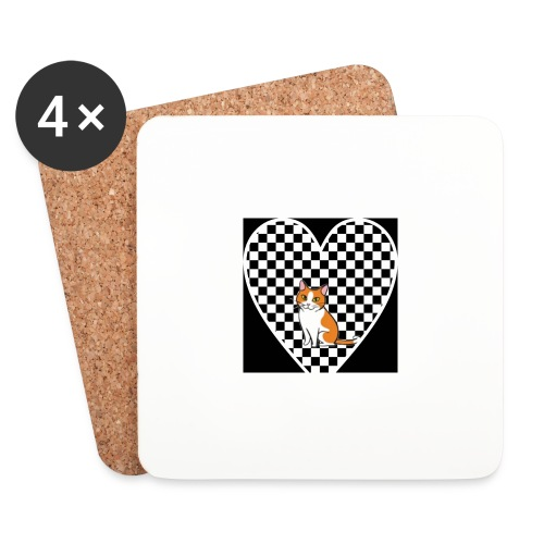 Charlie the Chess Cat - Coasters (set of 4)