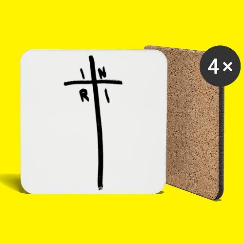 Cross - INRI (Jesus of Nazareth King of Jews) - Coasters (set of 4)