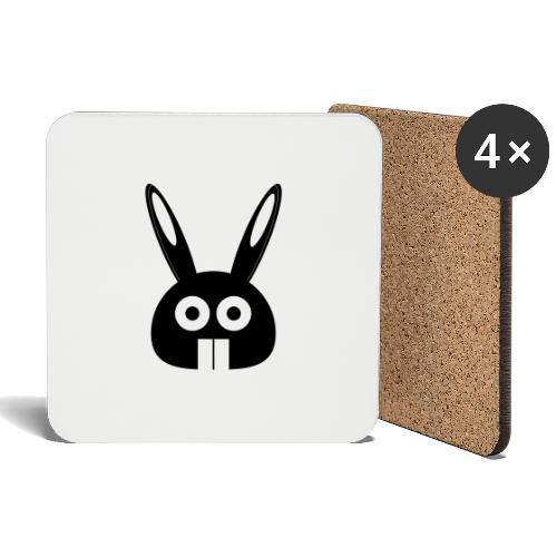 Puny Bunny - Lasinalustat (4 kpl:n setti)