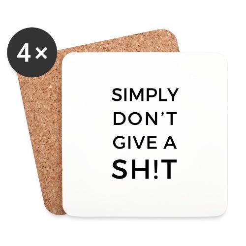 SIMPLY DON'T GIVE A SH!T - Sottobicchieri (set da 4 pezzi)